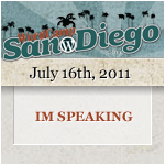 I'm Speaking at WordCamp San Diego 2011
